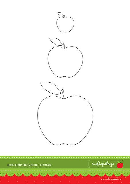 Apple Cut Out Template Harley S 3rd Bday Embroidery Hoop