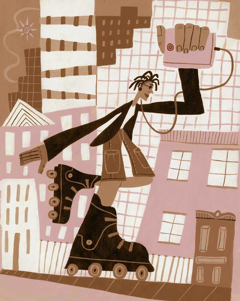 illustration and animation: Calef Brown - the graphic side of illustration