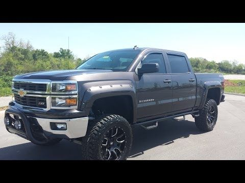 sold 2014 lifted chevrolet silverado 1500 crew cab 4x4 tungsten gray rh pinterest com