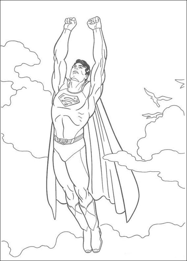 Free Superheroes Superman Coloring Pages for Kids Picture 1 550x770 ...