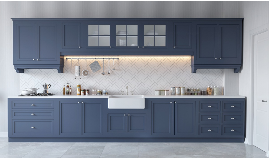 Blue Gray Cabinets Gorgeous Grey And White Kitchens Blue Grey Kitchen Cabinets Grey Blue Kitchen Gray And White Kitchen One Wall Kitchen
