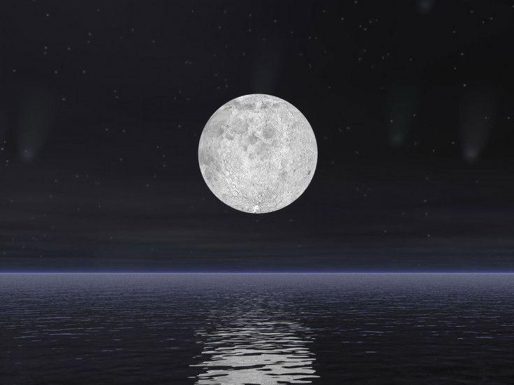 Full Moon Rises Over the Water Wall Mural Moon rise