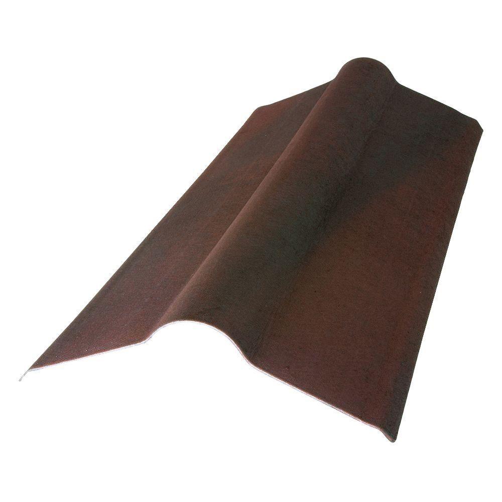 Onduvilla 223/24 ft. x 19.5 in. Siena Brown Composite