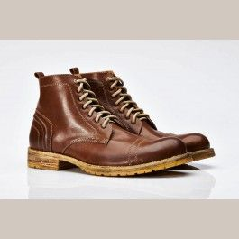 Laced ankle boot for man in leather, comfortable, elegant, casual. Official NEW Umberto Luce Collection.  $146.00