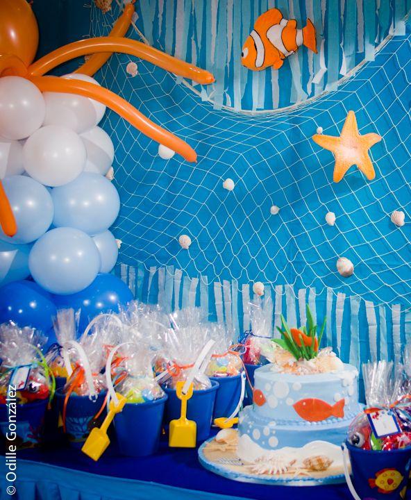 Under The Sea Birthday Decor Pool Birthday Party Sea Birthday