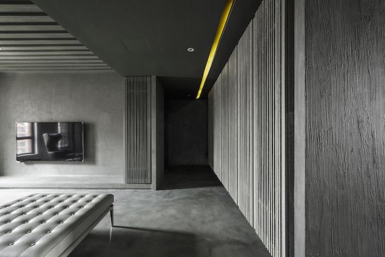 farbe-grau-visuelle-effekte-wohnzimmer-wandgestaltung-paneele-putz ...