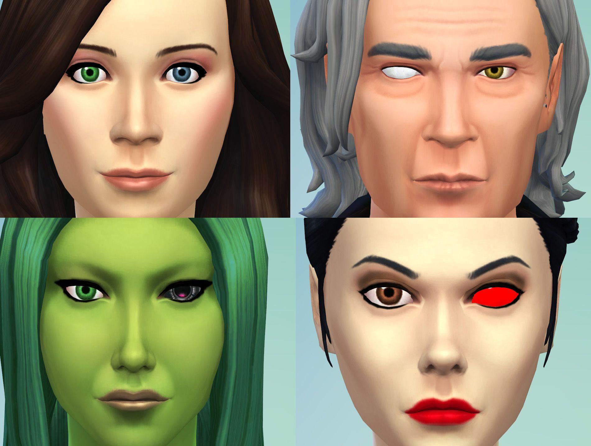 Mod The Sims 2 Different Eyes Heterochromia Blind Eye