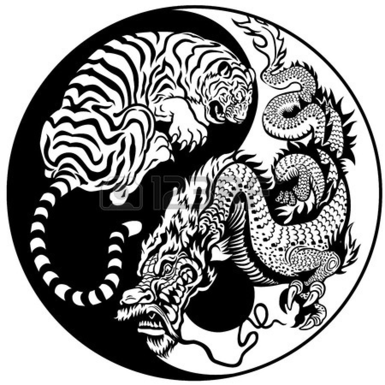 the fusion of a tiger and a dragon kempo karate martial arts rh pinterest com Yin Yang Symbol Meaning Colorful Yin Yang
