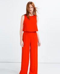 2659d55bf7b5 Imagen 5 de MONO LARGO CAPA de Zara | JUMPSUITS en 2019 | Monos ...