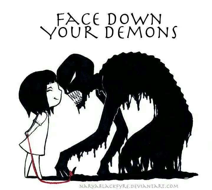 Down With My Demons Tattoo: Face Down Your Demons