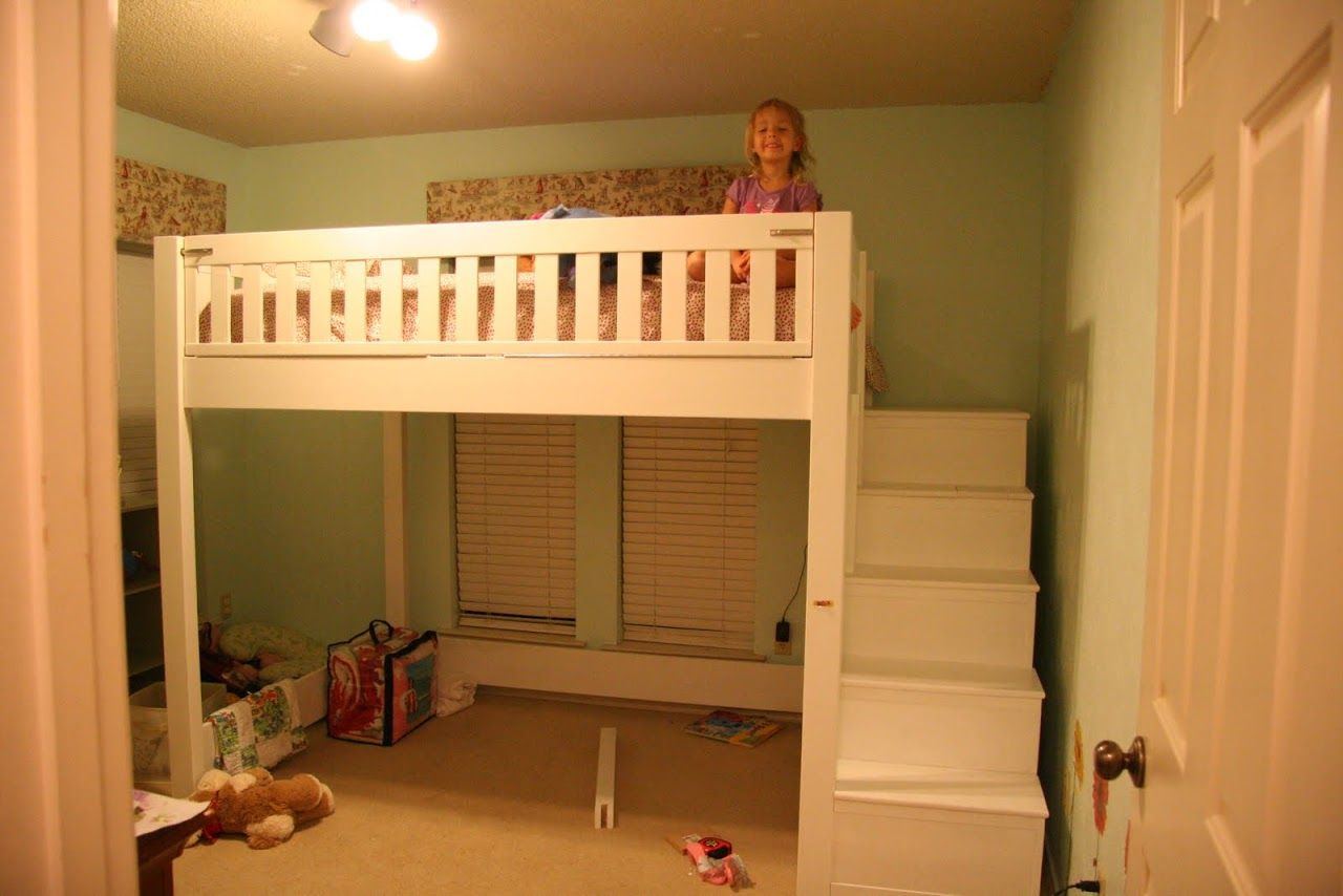 Mobby loft bed with stairs  Photo   The view when you walk in the room  Bedrooms