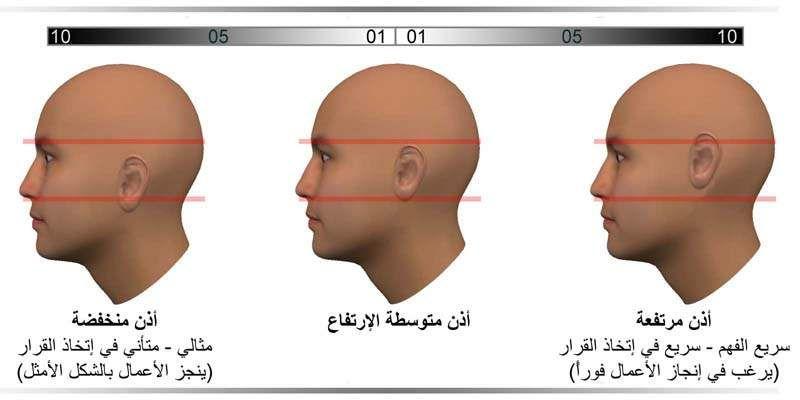 في علم الفيسينومي Physiognomy يمكننا من خلال ملاحظة موضع الأذن بالنسبة للرأس تحديد ما إذا كان الشخص سريع في فهم المعلومات و سريع Face Reading Reading Knowledge