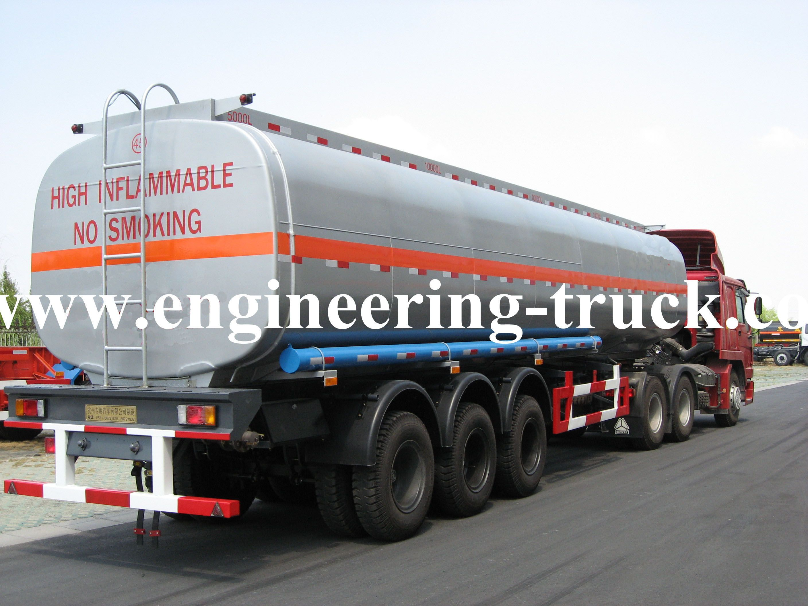 we've exported  Chemical Liquid Tank Semi-trailer for Butanol/Gas/Diesel to more than  50 countries for the past 20 years. If you are interested in,please click web:http://www.engineering-truck.com/chemical-liquid-tank-semi-trailer-product-40.html or send email to us. Email:info@engineeering-truck.com TEL:0086-0571-83696958