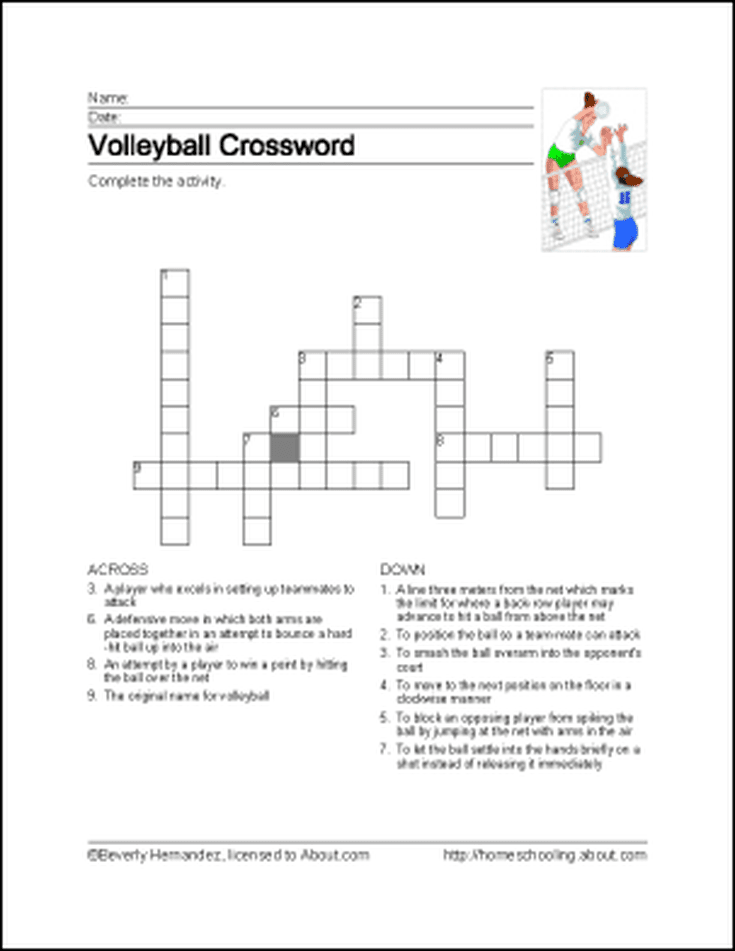 Learn About Volleyball With Free Volleyball Printables ...