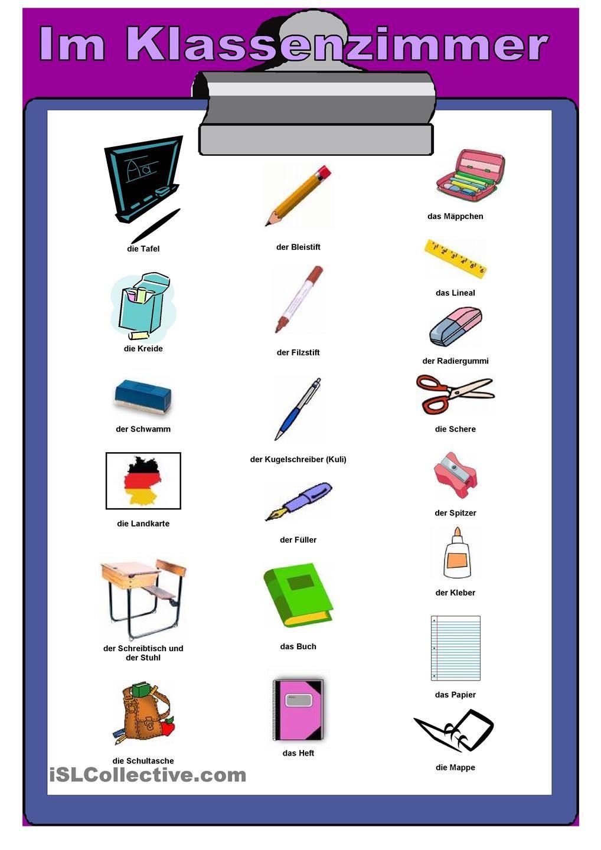 Im Klassenzimmer | German and Language
