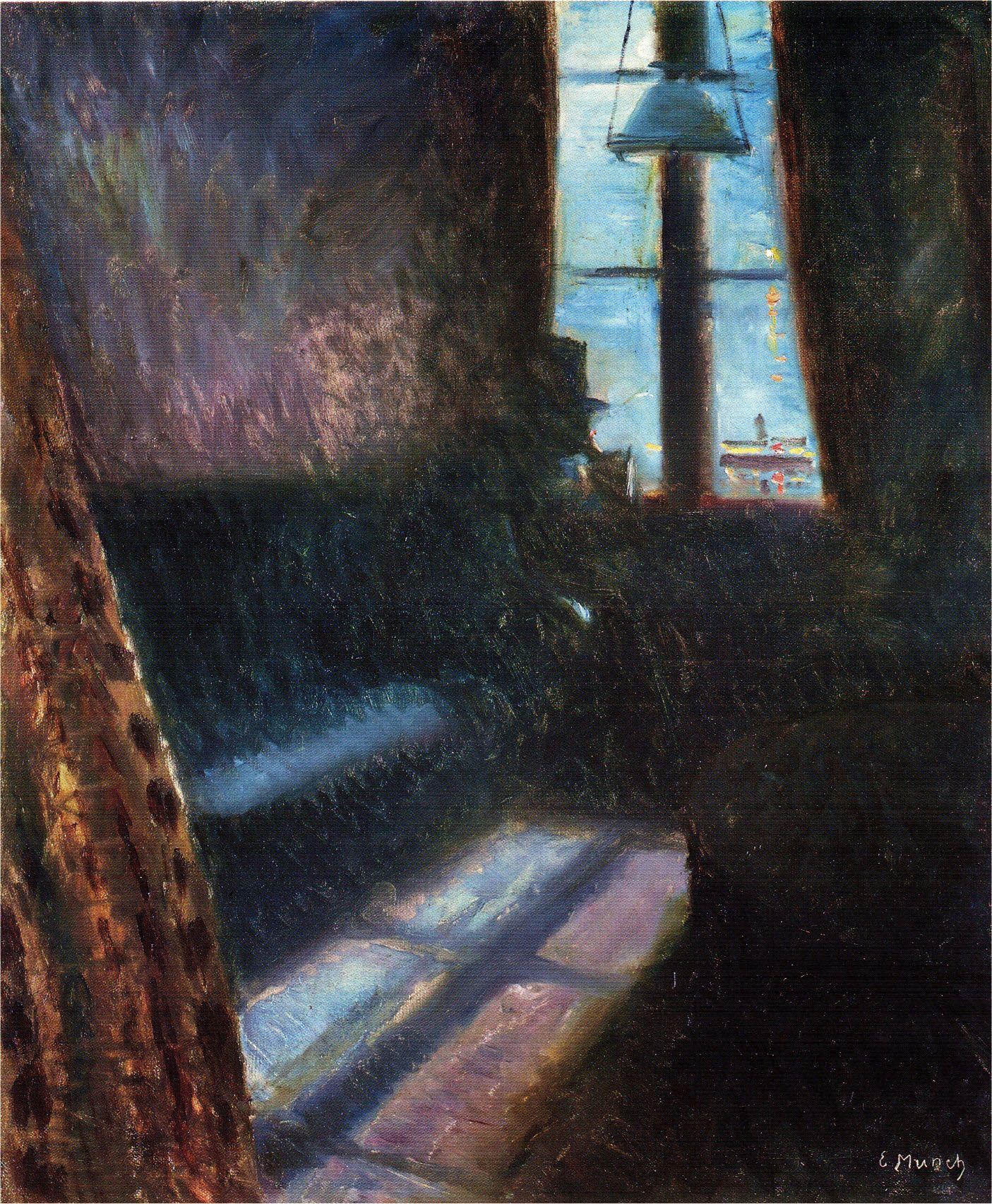 Edvard Munch - Night in St Cloud