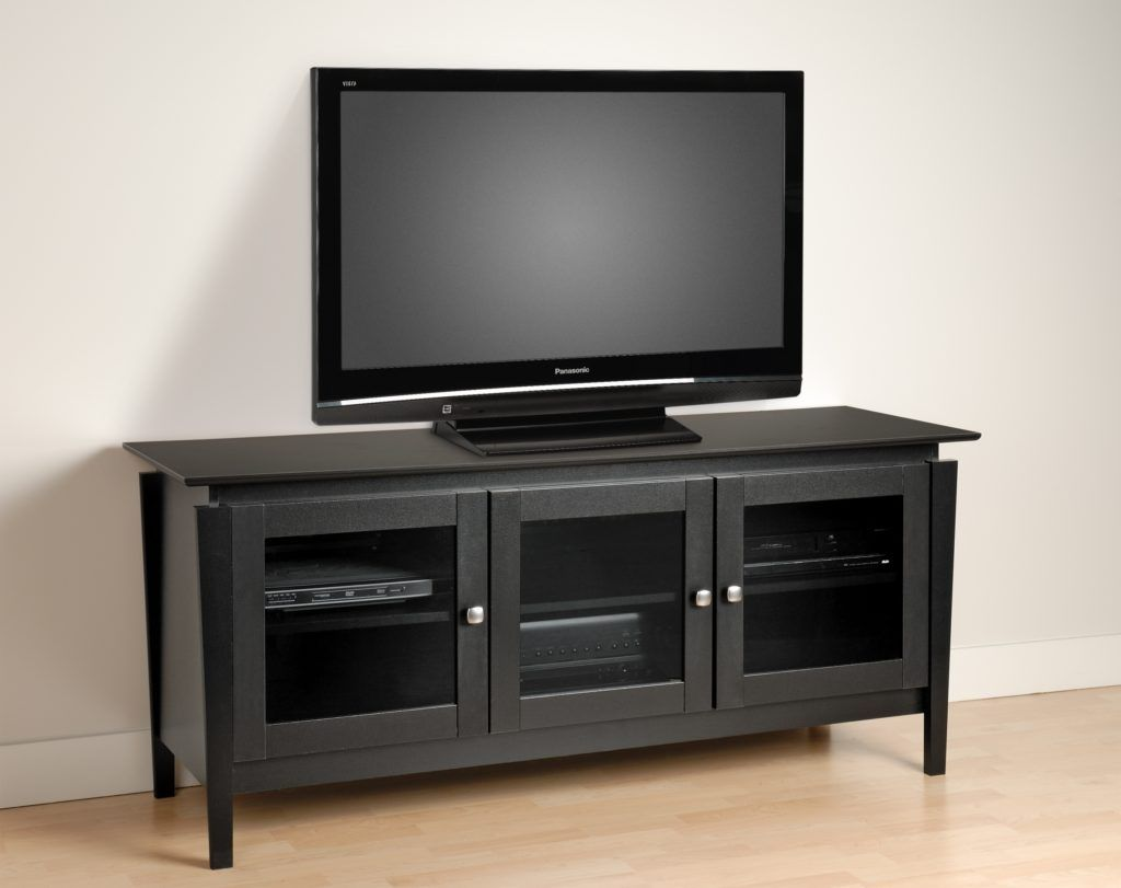Black Tv Stand With Frosted Glass Doors Glass Doors Pinterest