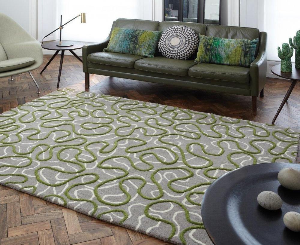 Teppiche Modern Gunstig ~ Details zu teppich wohnzimmer carpet modernes design squiggle zick