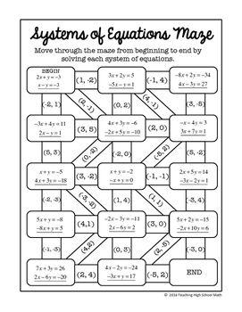 Algebra digital interactive math solving systems of equations maze algebra digital interactive math solving systems of equati fandeluxe Image collections