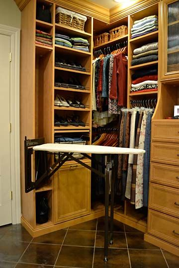 Fold Away Ironing Board. The Closet Is The Best Place For It, But I Lack  Space There, So Maybe The Laundry Room.