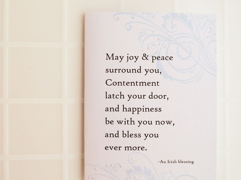 Irish Blessing Handmade Card