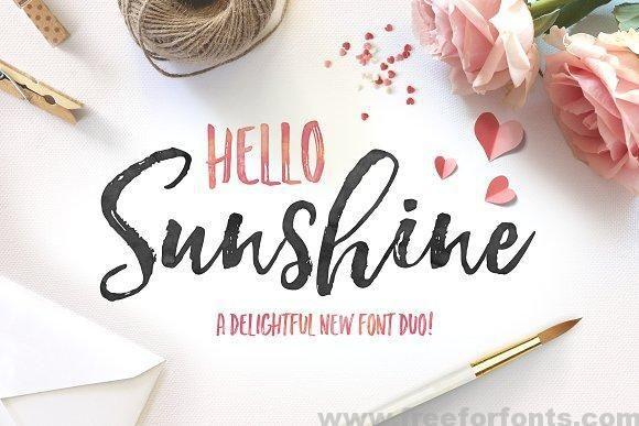 Hello Sunshine Font Duo Free Download
