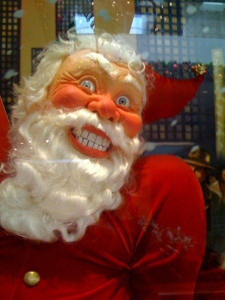Tis The Season For A Friggin Nightmare And Future Therapy Bills Creepy Christmas Creepy Vintage Santa Pictures