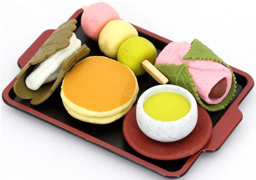 iwako erasers japanese sweets 5 pieces set 1