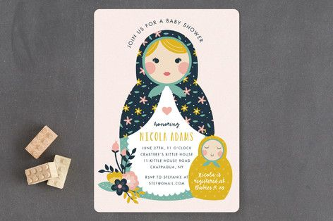 Nesting Baby Shower Invitations by Anne Holmquist at minted.com