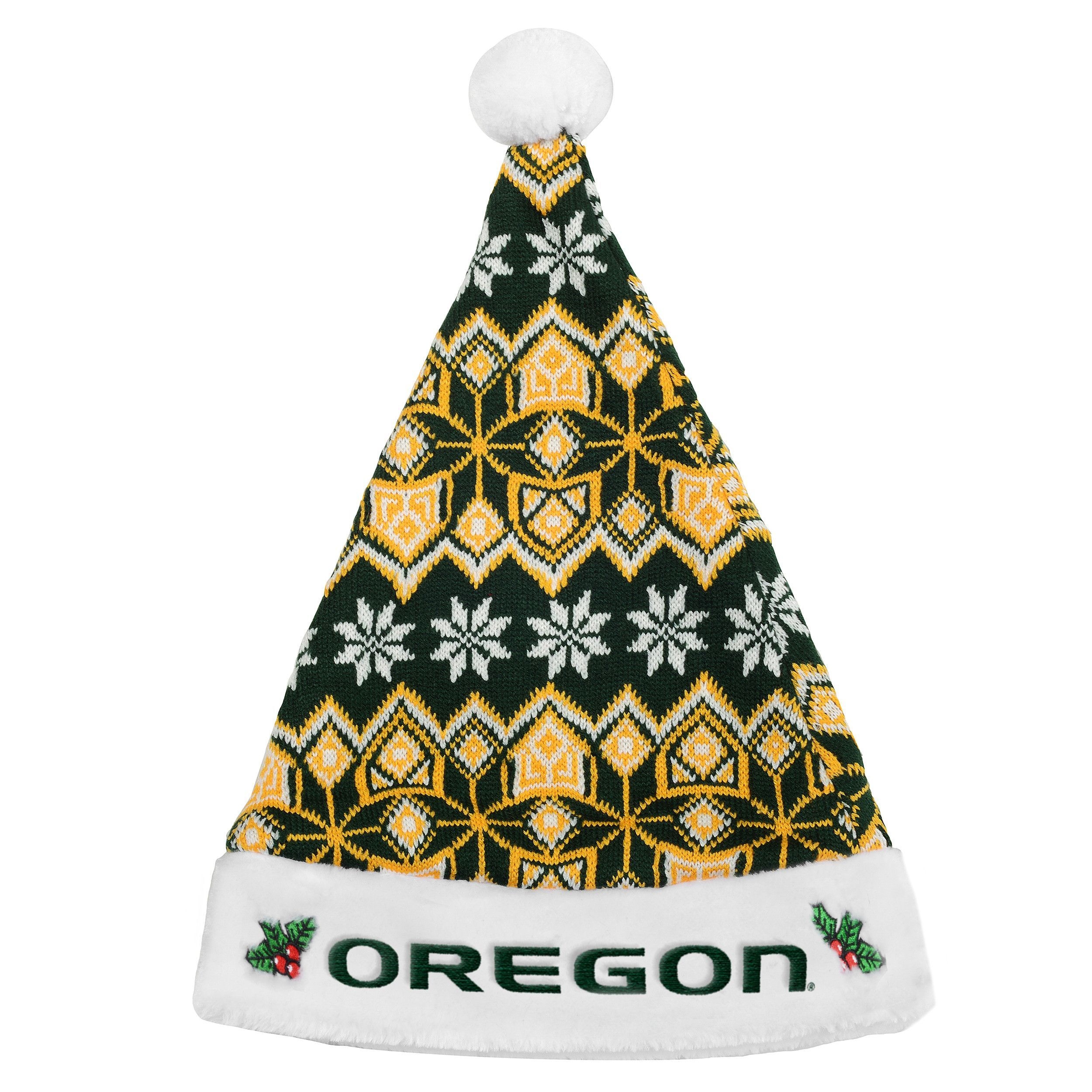 5ce1d17baad7e Oregon Ducks Knit Santa Hat - 2015