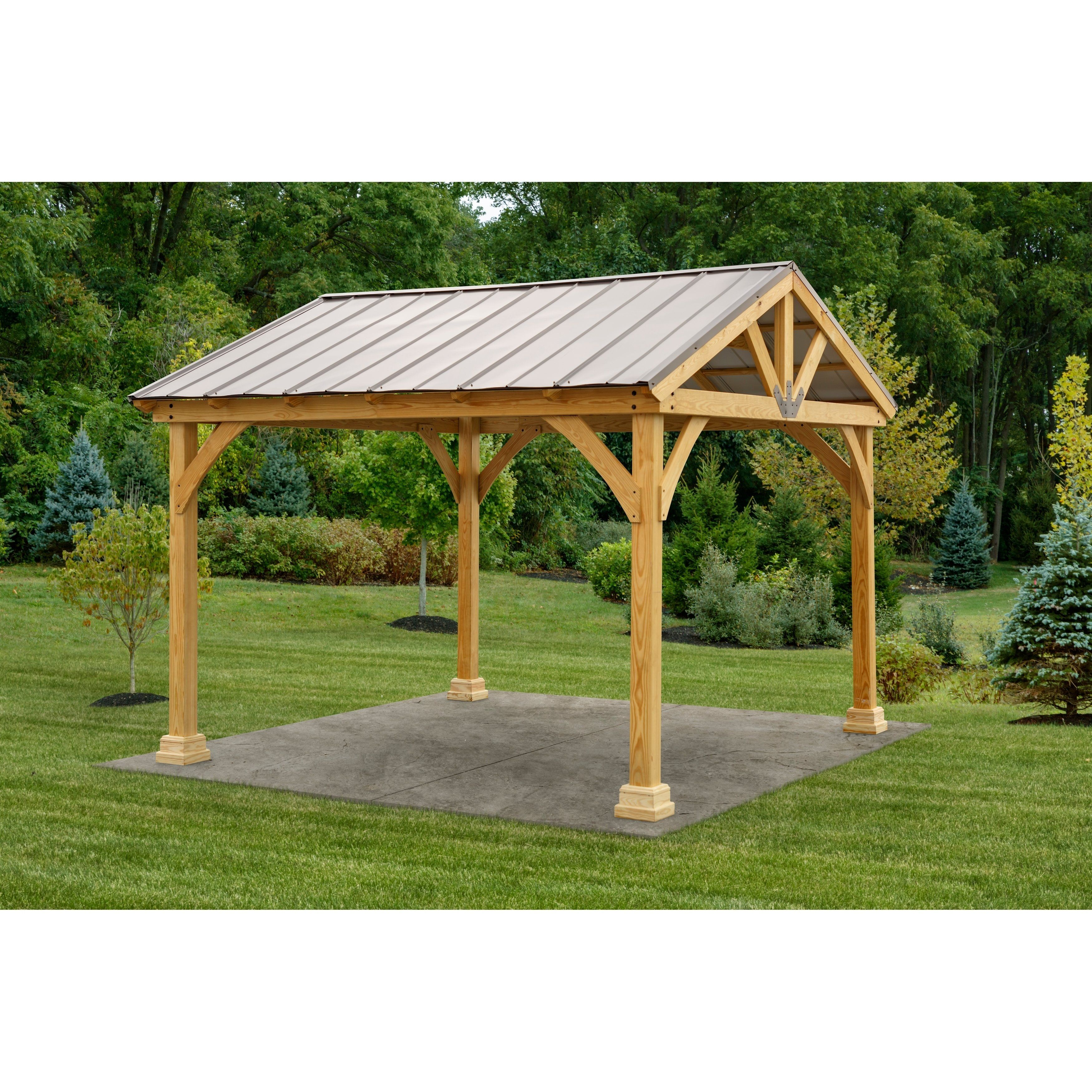 12x12 Westmont Pavilion (Wood/Bronze - Canyon Brown)(Wood ... on Backyard Discovery Pavilion id=90548