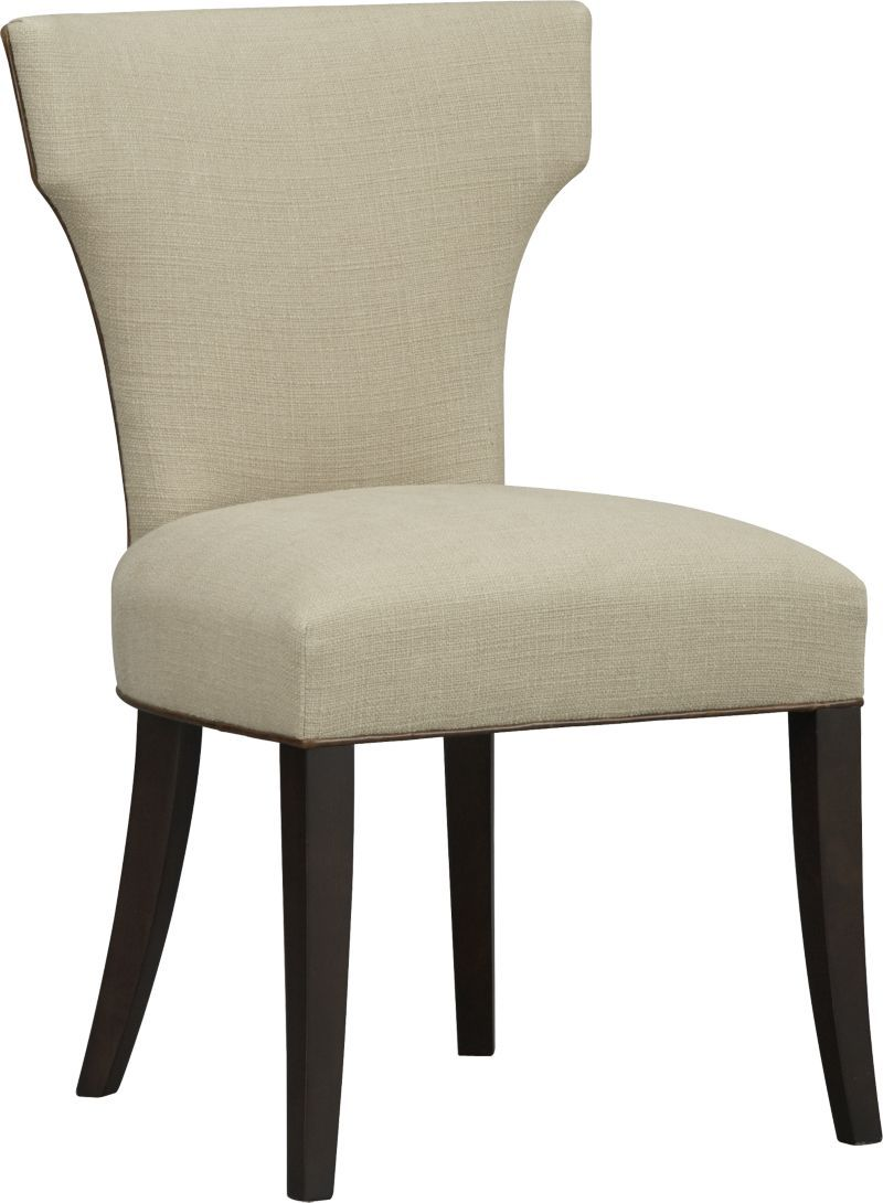 Sasha Side Chair with Leather Welt | Crate and Barrel - saw pictured ...