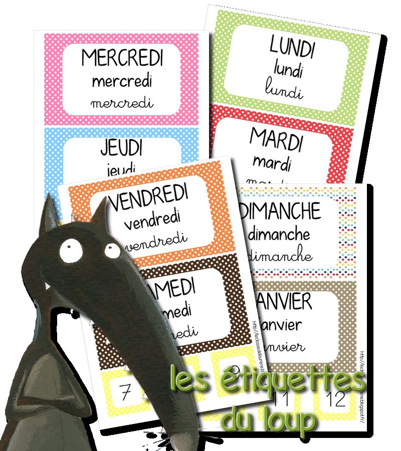 Calendrier Classe De Laurene.La Maternelle De Laurene Les Etiquettes Dates School