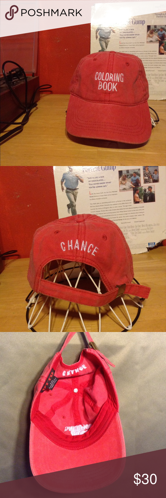 Chance The Rapper Coloring Book Hat Red Coloring Book Hat In