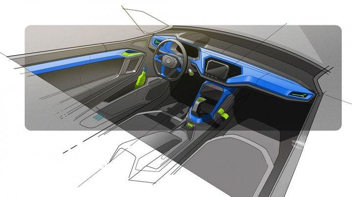 Volkswagen T-TOC Concept Interior Design Sketch