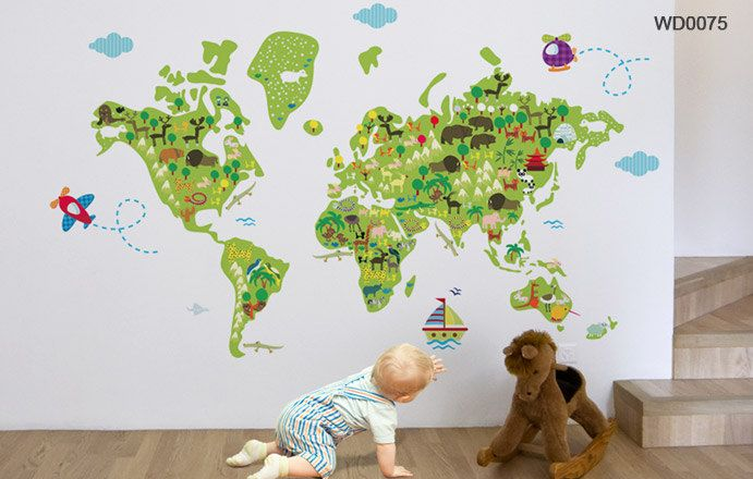 World Map Fabric Wall Decal Wall decals, Fabrics and Walls - fresh world map outline decal