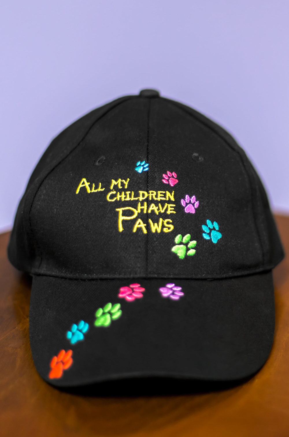 All My Children Have Paws Embroidered Baseball Hat ...