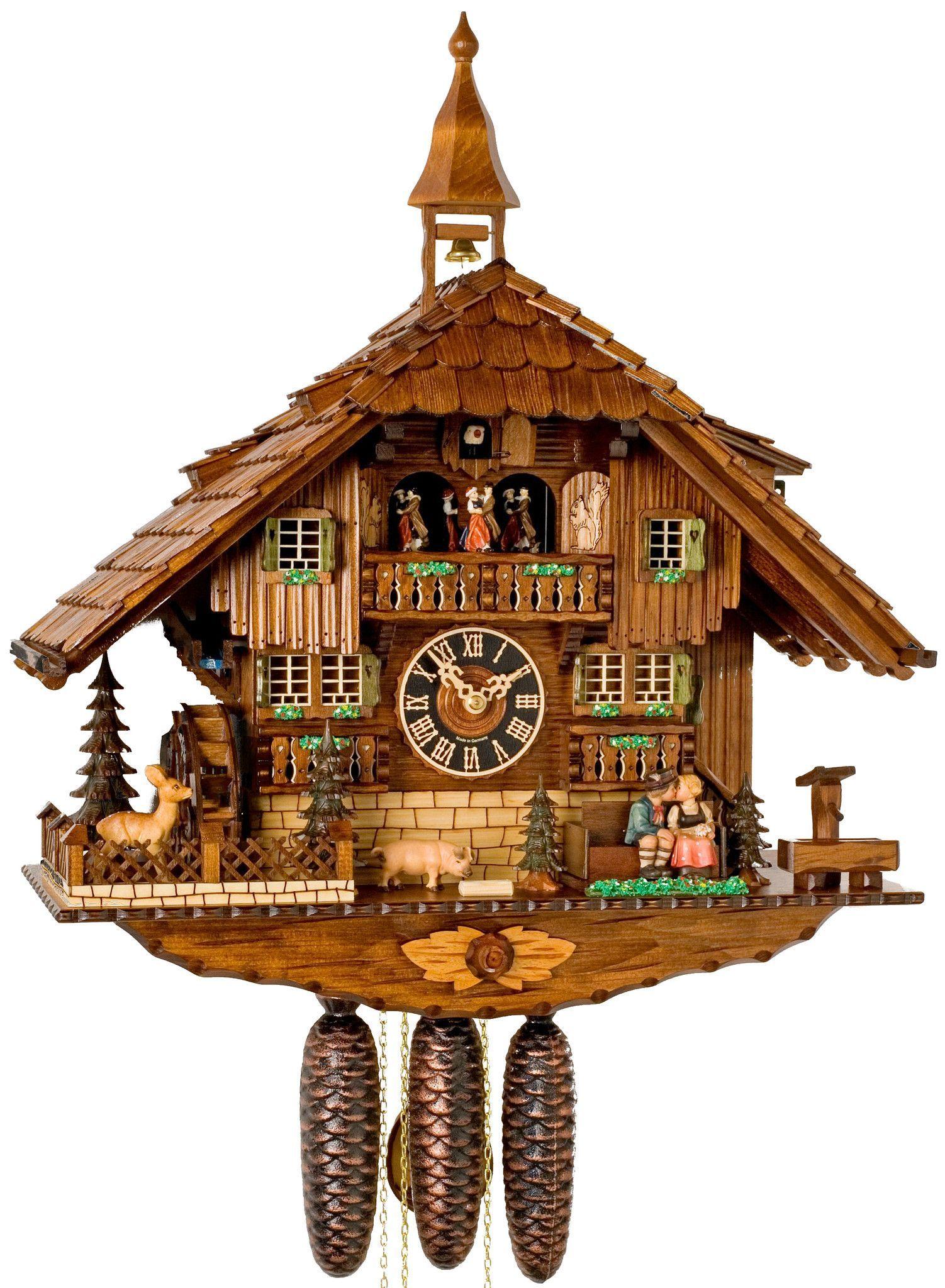 "Hones 23"" 8 Day Chalet Music 8638T Cuckoo Clock Clock"
