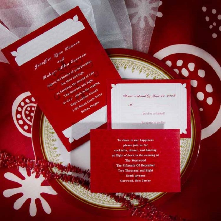 Red Wedding Invitation Sample Invitation Ideas In 2018 Pinterest