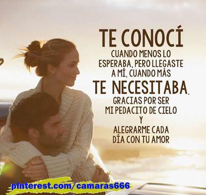 Frases Bonitas Y De Amor Gracias Por Ser Mi Pedacito De Cielo