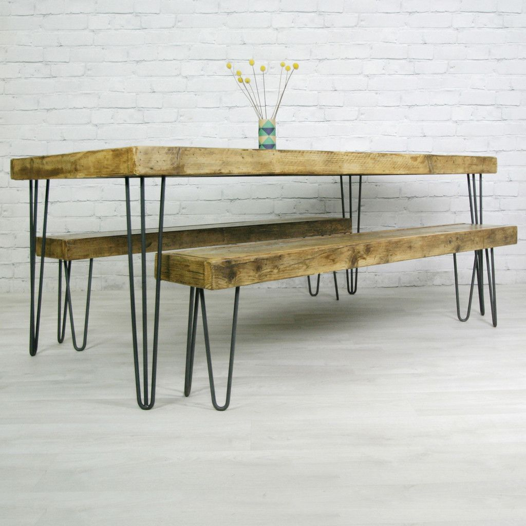 Diy Farmhouse Table With Metal Legs Image Of Hairpin Industrial Metal Table Legs For The Home