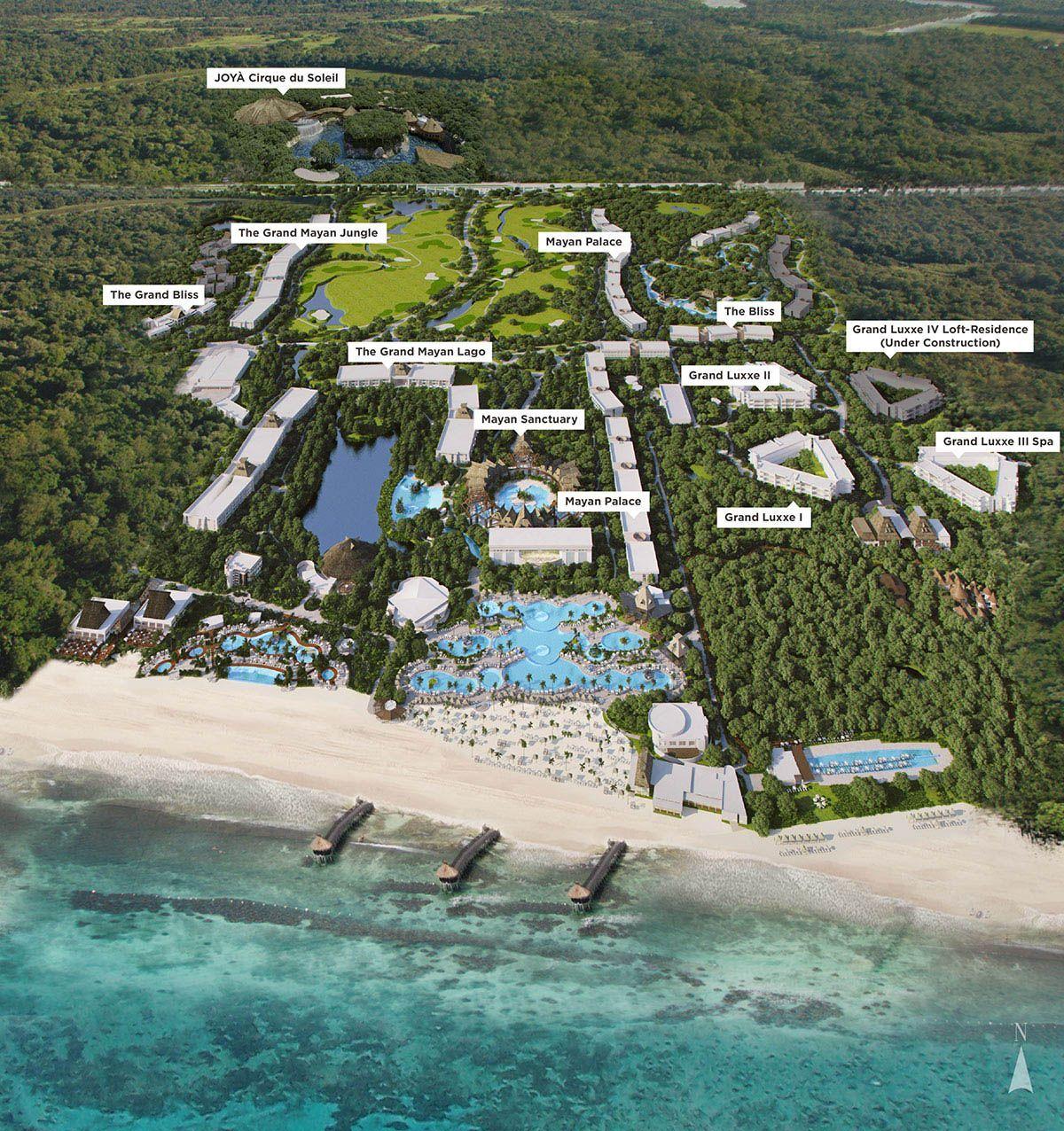 grand mayan cancun map Vidanta Resorts And Destinations Riviera Maya Resorts Mayan grand mayan cancun map