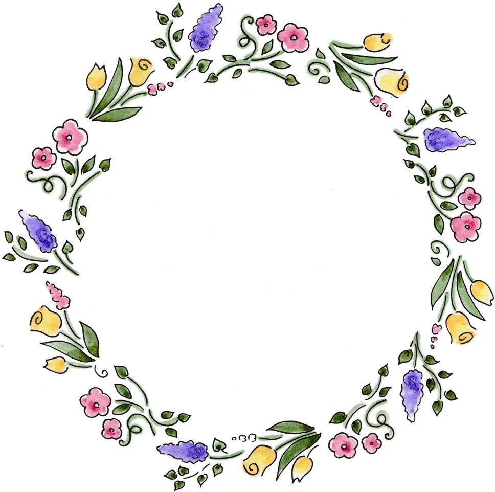 clipart flower wreath - photo #31