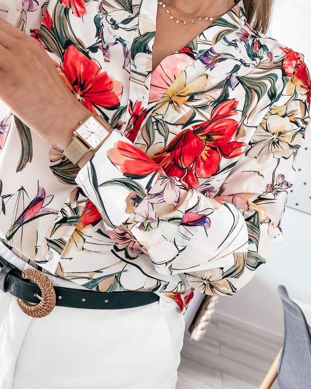 Flower Power Nife Nifefashion Softoffice Koszula Kwiaty Koszulawkwiaty Zoom Detale Lato Stylizacja Floralsh Floral Tops Women Fashion