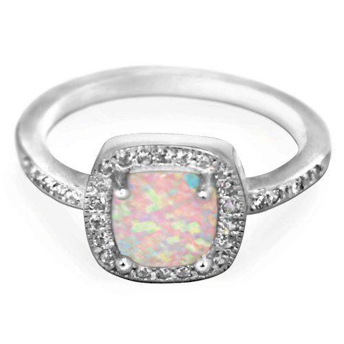Princess White Opal CZ Ring 9MM Sterling Silver 925 Size 5 CloseoutWarehouse http://www.amazon.com/dp/B00F718PFO/ref=cm_sw_r_pi_dp_PUCkub0FFJY10