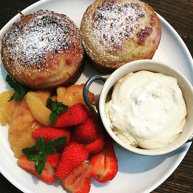 Lets sweeten up the afternoon. With homemade crumpets with orange blossom nectarines strawberries and vanilla cream. Totally yum. X #daisydining #daylesford #catering #daylesfordcatering #bespokecatering #bespoke #traditionalcooking #localproduce #crumpets #nectarines #strawberry #vanilla #food #foodpics #foodstyle #foodshare #foodgram #foodforfoodies #privatechef #privatedining #events #breakfast #melbourne #melbournefood #wanderlust #wandervictoria #weekend #weekendgetaway #daisylove…