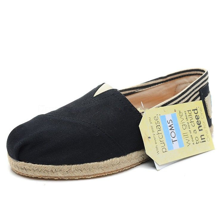 Toms University Rope Sole Mens Classics Black - Fashion up Trend
