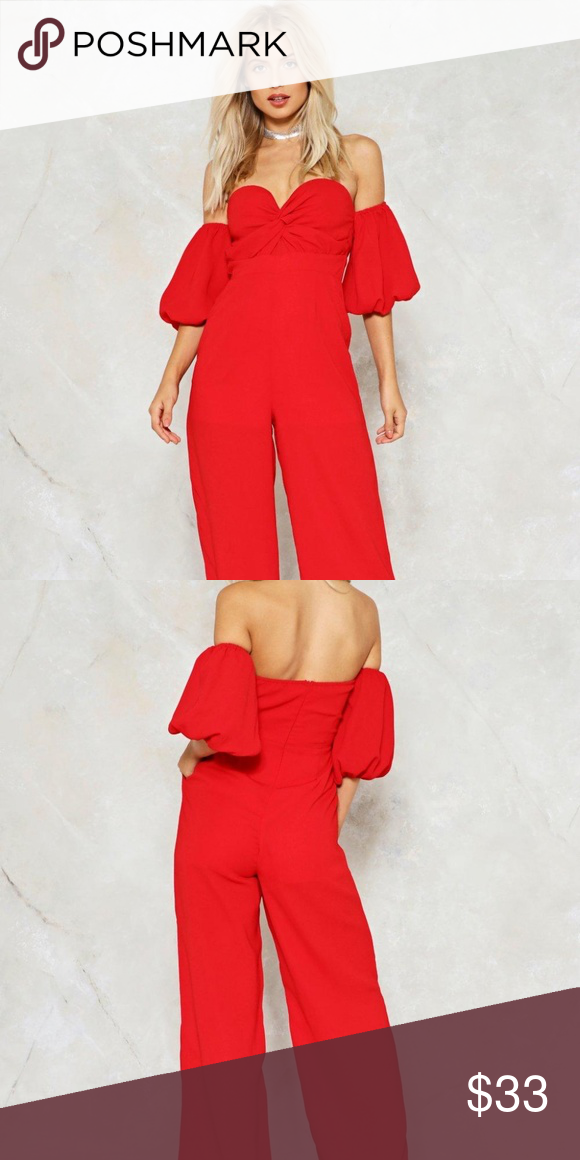 19e31b8e6639 NWT Red Nasty Gal Jumpsuit Brand new with tags  this jumpsuit features an  off-