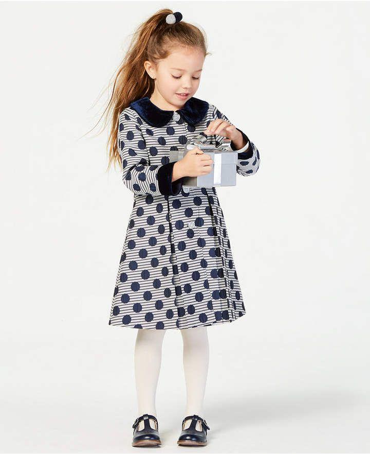 afde6a4c1 Blueberi Boulevard Toddler Girls 2-Pc. Striped Coat   Dress Set ...