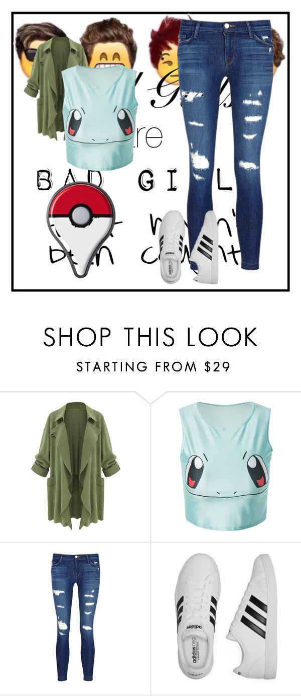 """Pokemon Go!"" by vanessa-joynelly on Polyvore featuring J Brand e adidas"